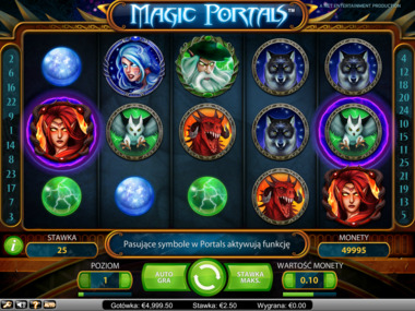 Gra hazardowa Magic Portals