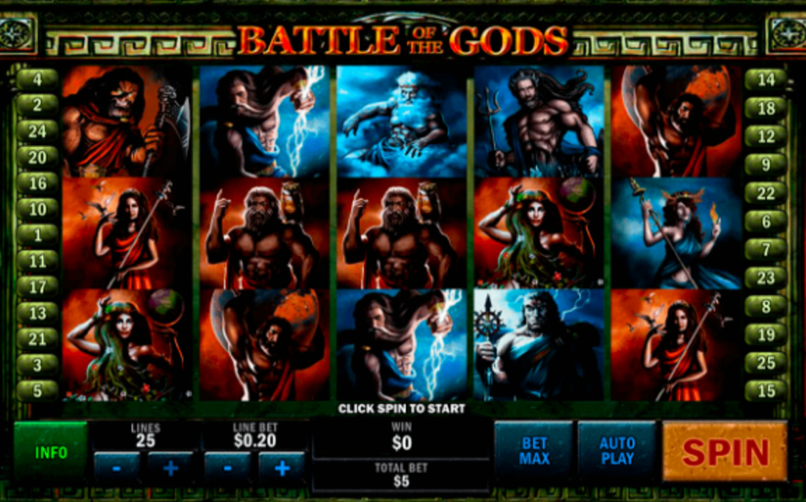 Gra kasynowa Battle of the Gods online