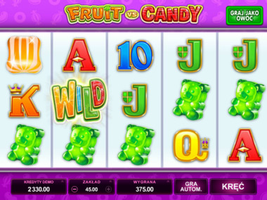 Gra kasynowa Fruit vs Candy za free