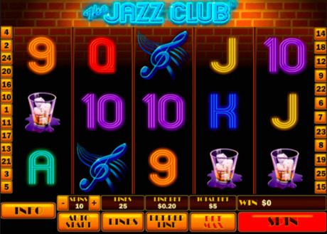 The Jazz Club gra wrzutowa online